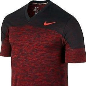 Men's Nike v neck t shirt knit pro training large